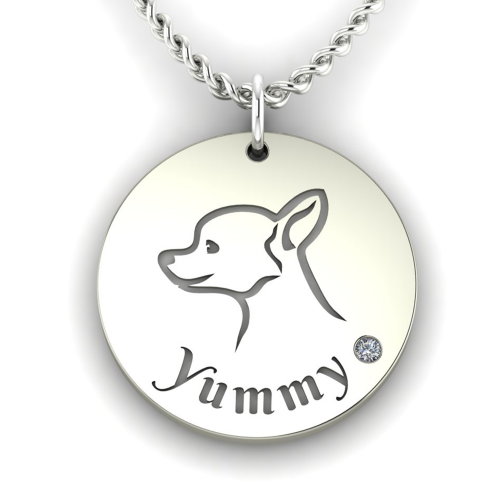 YUM gold diamond pendant for the pet lovers