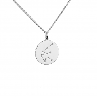 Silver pendant with a zodiac constellation ZODIAC