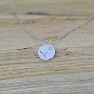 Diamond pendant with a zodiac constellation ZODIAC