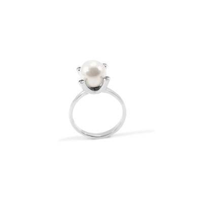 Pearl ring with diamonds ASTA