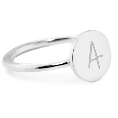 Silver minimalistic ring with a diamond BERY