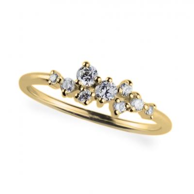 Stříbrný prsten s zirkony CLARA
