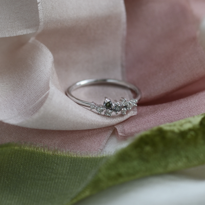 Zlaty prsten s diamanty salt and pepper CLARA