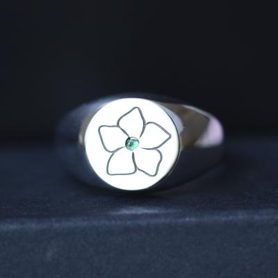 Mens emerald ring CLARK