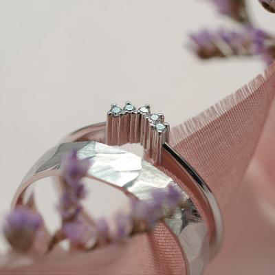 Gold ring with diamonds EMILIA