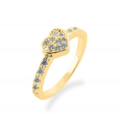 Zlatý prsten s diamanty ERIA