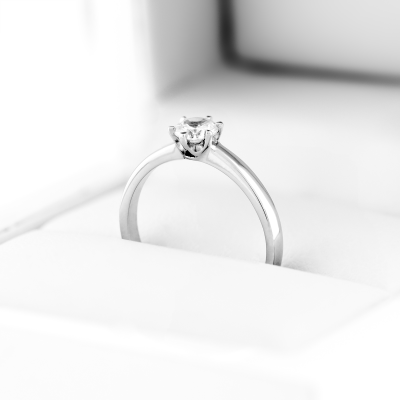 Platinum promise Brilliant ring 0.2ct FISKA