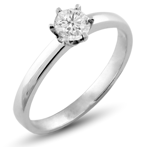Engagement diamond ring 0.2ct FISKA