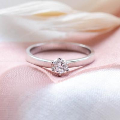 Silver ring with zirkon 0.2ct FISKA