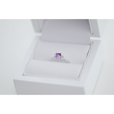Gold ring Flan with amethyst