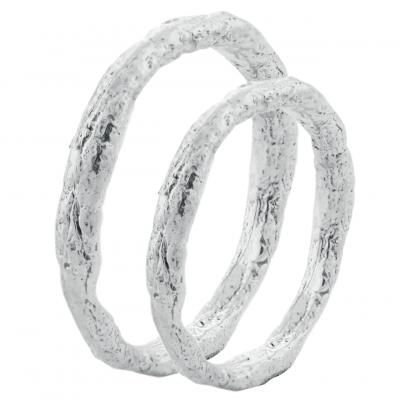 Minimalistické snubní prsteny ze zlata FLATEN