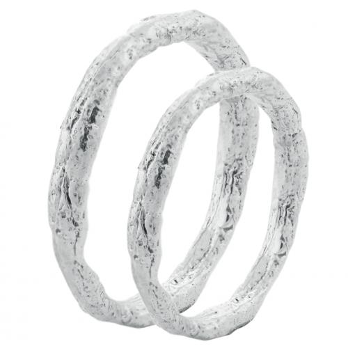Minimalist wedding rings FLATEN