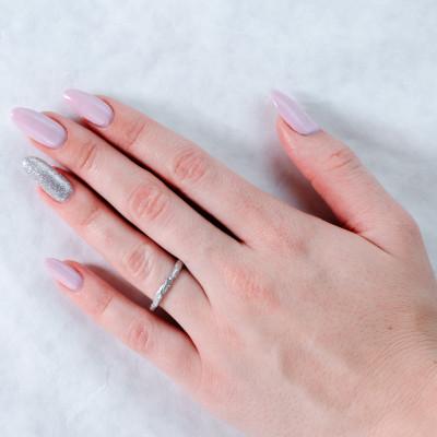 Stříbrné barevné prstýnky v minimalistickém stylu FLATEN