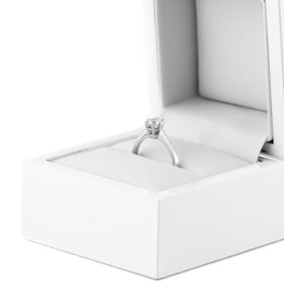 Platinum engagement ring with diamond 0.4ct FLORA