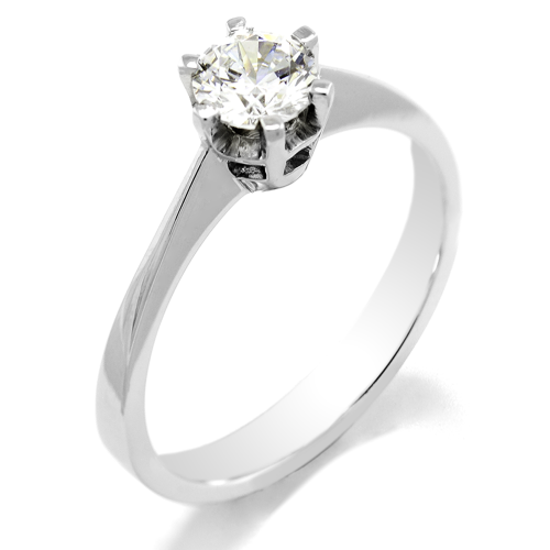 Engagement ring with diamond 0.4ct FLORA