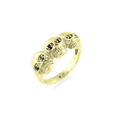 Diamond ring with skulls - FLORO