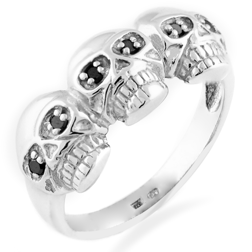 Diamond ring with skulls - FLORO
