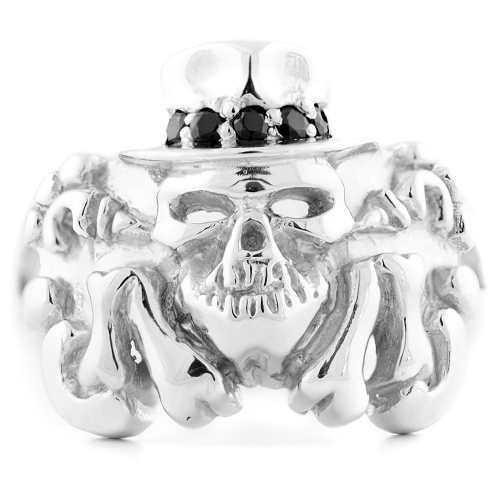 Ring with skull and diamonds GEILO