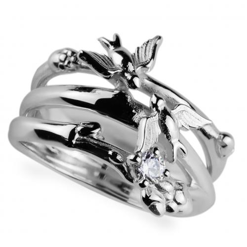 Silver ring with zirkon GINA