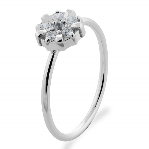 GRAC silver flower shape ring