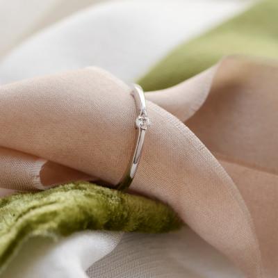 Minimalist gold engagement ring HAMEN