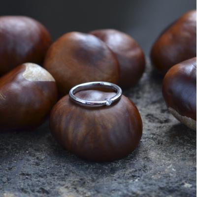 HAMEN classic gold diamond engagement ring