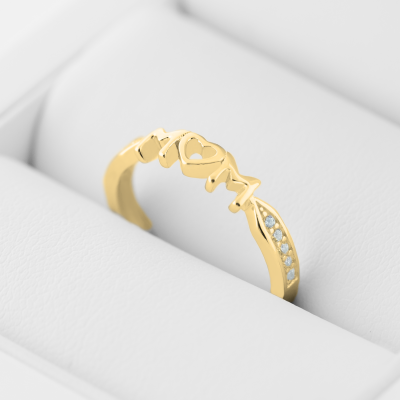 HAVME gold diamond dress ring for young mummies and mothers-to-be