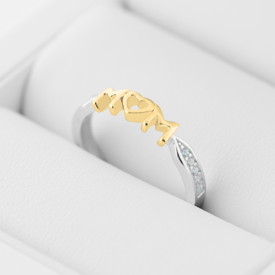 HAVME combination gold diamond dress ring