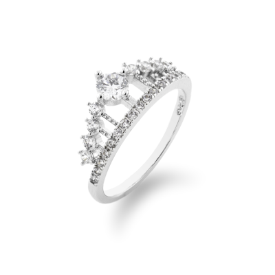 Zlatý prsten ve tvaru korunky HEBO