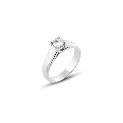 Engagement ring with diamond 0.25ct or zirkon HEIM
