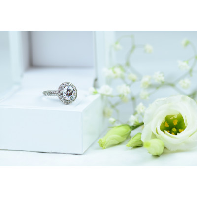 Halo silver ring with zirkons IMSROA