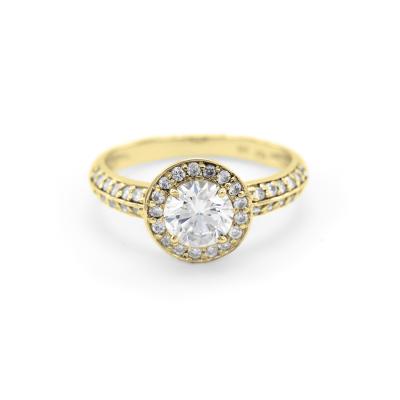 Halo silver ring with zirkons IMSROA