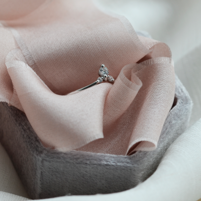 Fine goold ring with diamonds JANIS