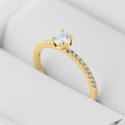 Gold engagement ring with diamonds KATVI