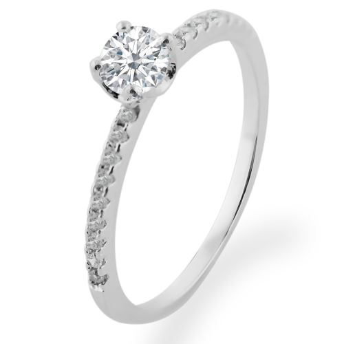 Gold engagement ring with diamonds KATVI