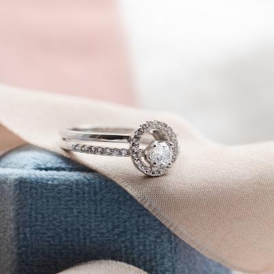 KATVI platinum diamonds engagement ring