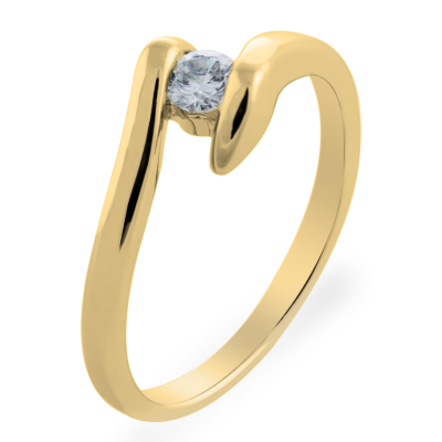 LEA sophisticated gold diamond engagement ring