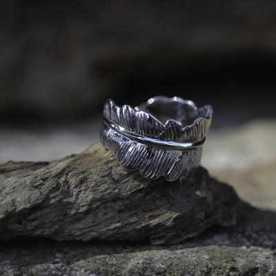 Original Sterling Silver ring LEAF