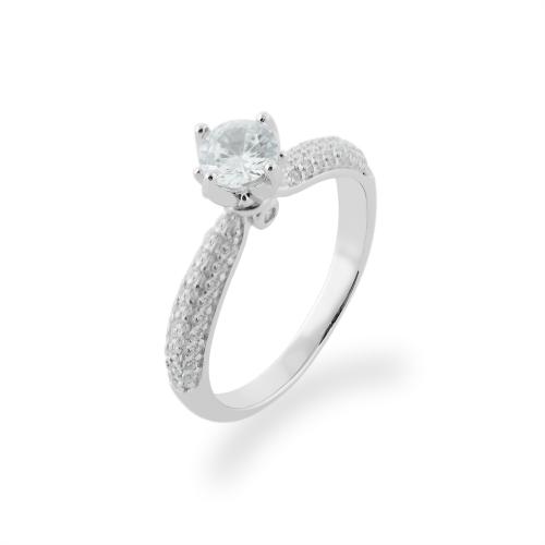 LIVKE classic gold diamond engagement ring