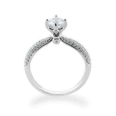 Klasický zlatý zásnubní prsten s diamantem LIVKE