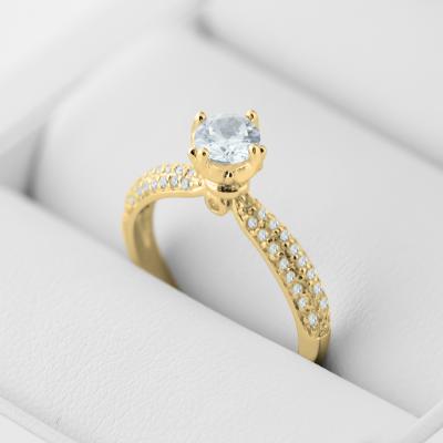 Classic moissanite and diamond engagement ring LIVKE