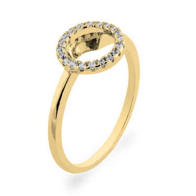 MIFI authentic gold diamond ring