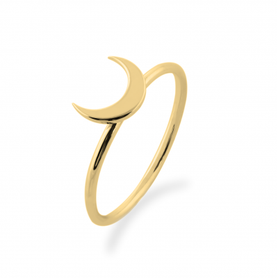 Originální zlatý prsten MISE ve tvaru půlměsíce