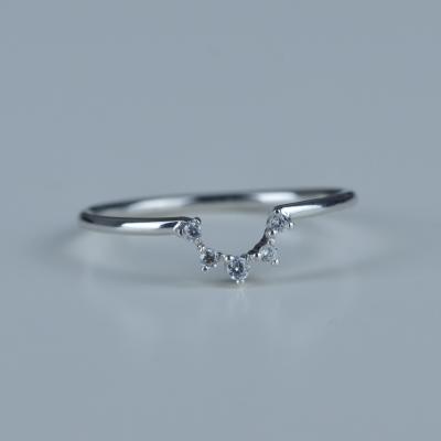 Diamantový minimalistický prsten MOINA