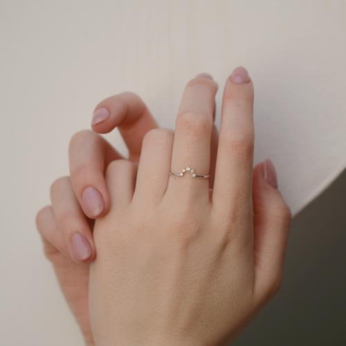 Diamond minimalist ring MOINA
