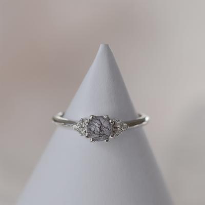 Prsten ze zlata s quartz drahokamem a diamanty MONNY