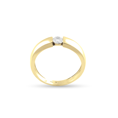 Gold engagement ring with 0.25 ct diamond - MOVIK