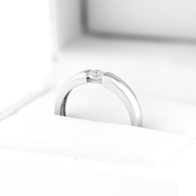 Platinum engagement ring with 0.25 ct diamond - MOVIK