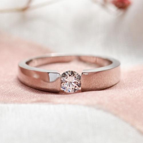 Zlatý zásnubní prsten s diamantem 0.25ct  MOVIK