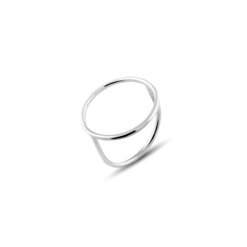 The golden minimalistic ring with the circle symbol NORE